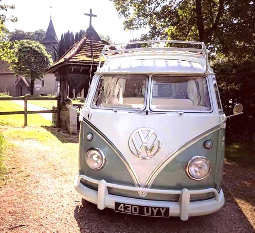 Egham Wedding Venue: VW Campervan For Wedding Hire In Farnborough